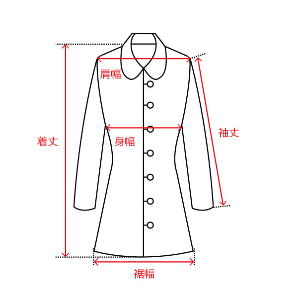 コート/肩縫い目あり